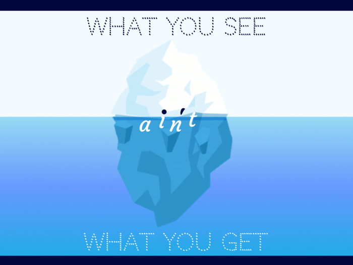 What you see AIN'T what you get