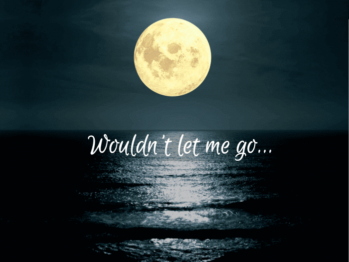 Wouldn't let me go…